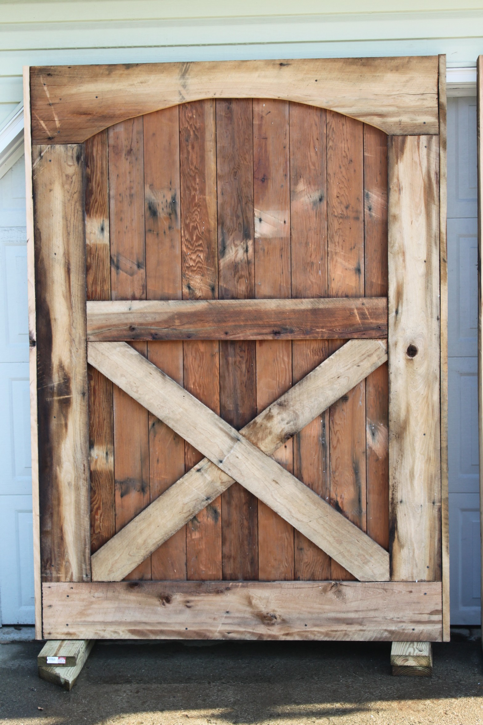 Barn doors are up we have closure old world garden farms for Barn door pictures