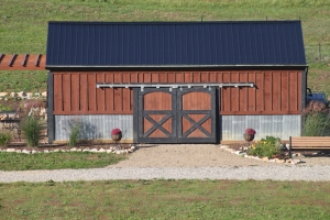 "Our new ""old"" barn - built from two old barns, one of which was my Dad's."