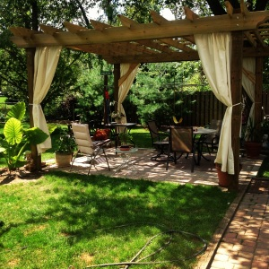 One of our favorites!  A pergola we built for a couple in Ohio.