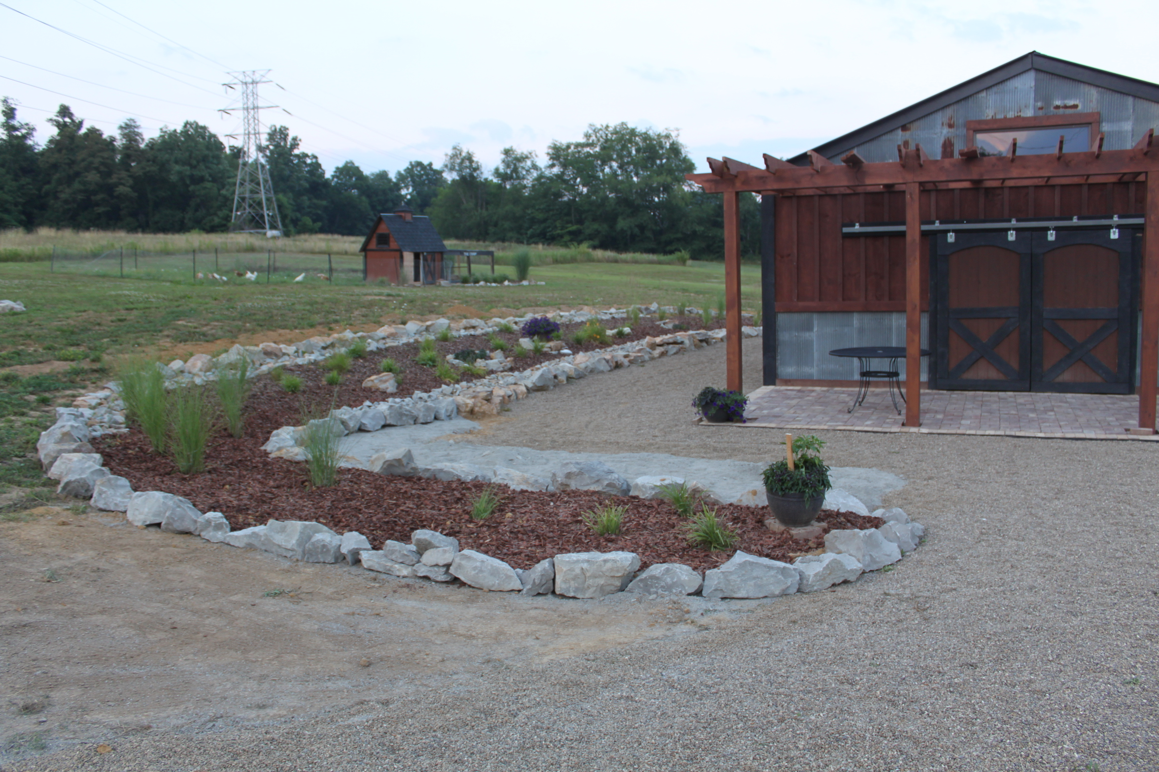Barn Landscaping Project Finished On A Dime Before And