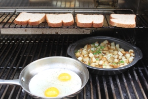 You can beat starting the day with a little farm fresh breakfast from the grill!