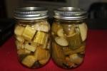 Garlic Dill Pickles - sliced in chunks