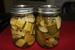 Garlic Dill Pickles - sliced in chunks