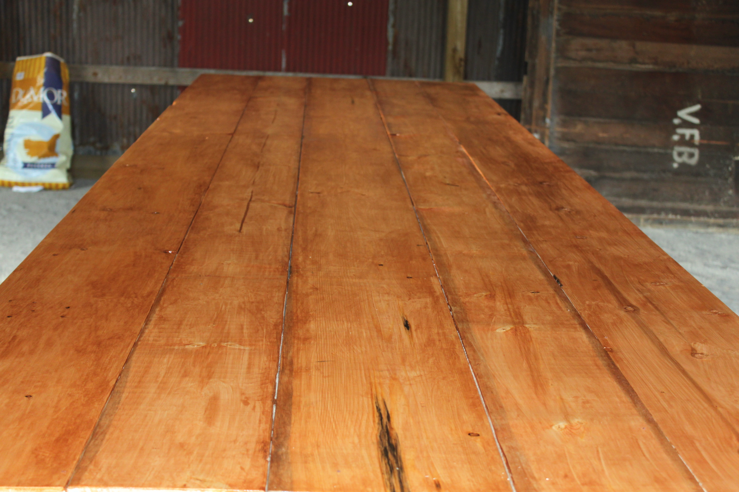 The Recycled Barn Trestle Table Seating For 14 Old