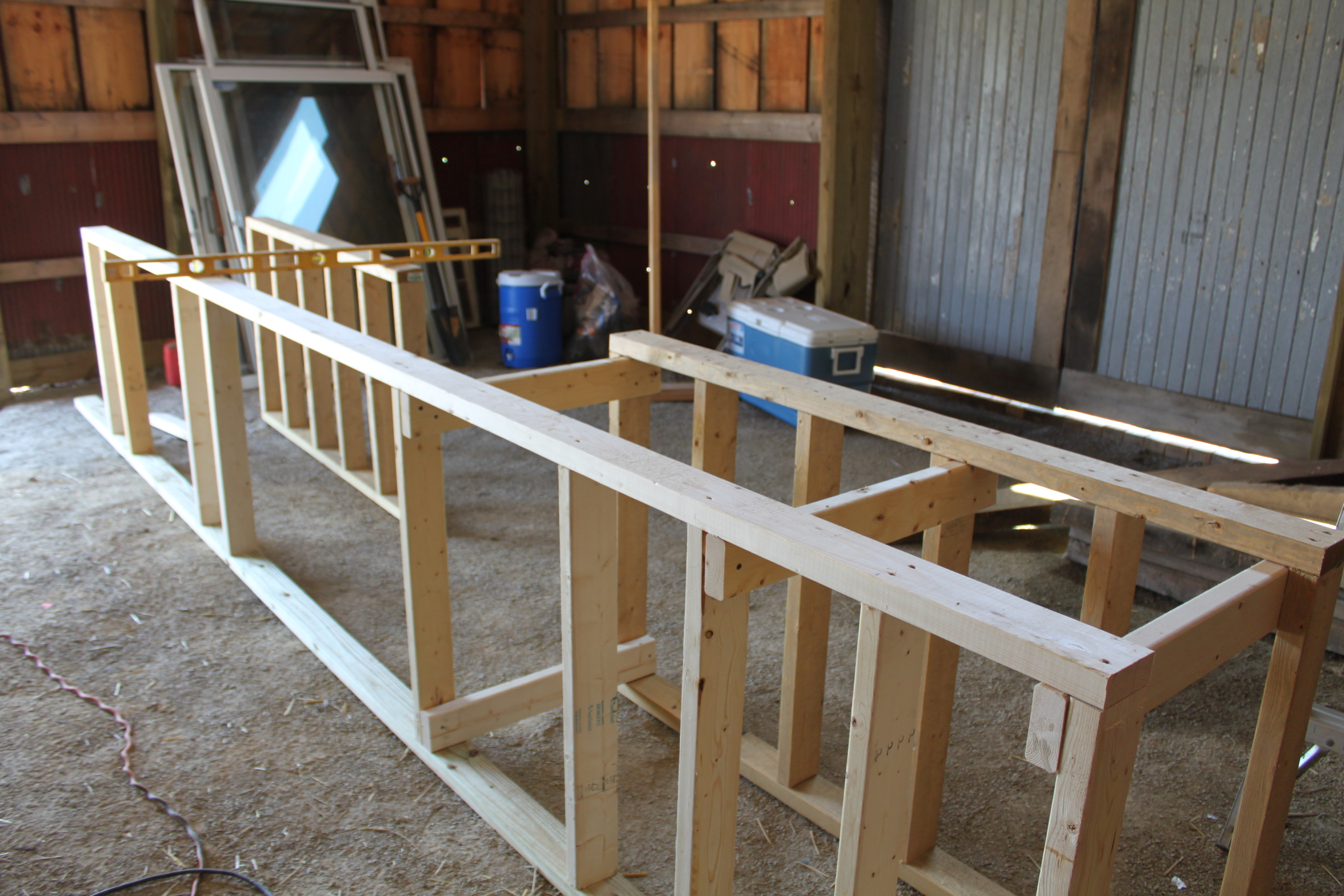 We Started By Making The Frame From 2 X 4 S Using Treated Lumber