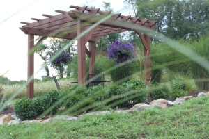 We will be adding a pergola structure to the garden for place to sit, relax and enjoy.