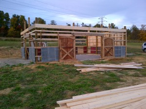 "We literally built our ""new"" old barn 15 minutes a day - making sure to accomplish at least something little each day."