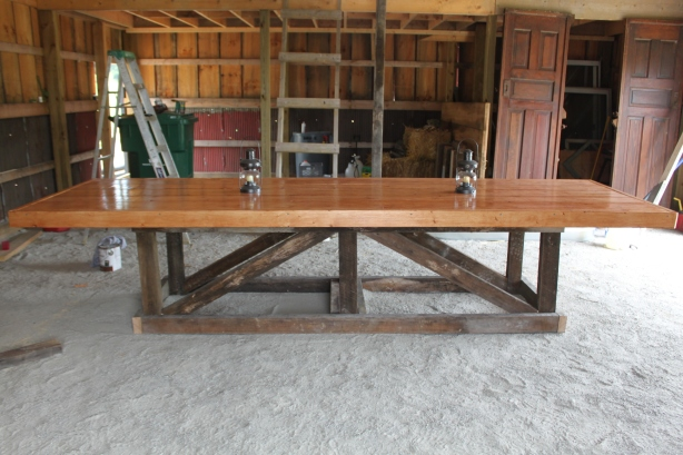 reclaimed barnwood table plans