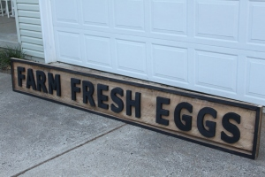 9' Farm Fresh Egg Sign We Made From Old Barn Wood