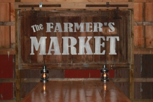 Farmers Market Sign We Made From Old Barn Door