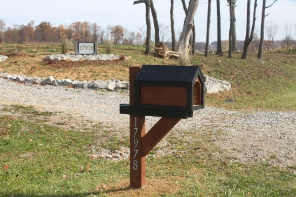 wooden mailbox post plans