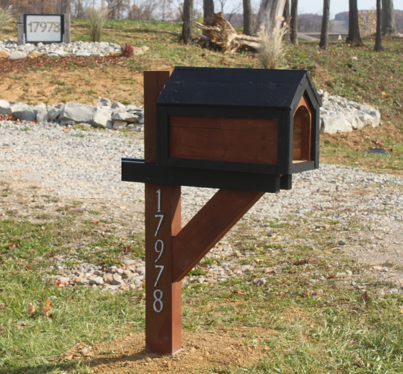 mailbox post woodworking plans