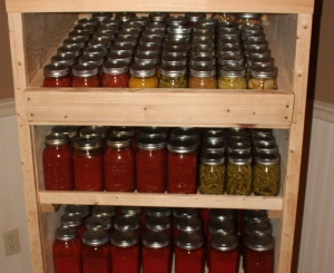 Our canning pantry -  filled up after last years garden season.