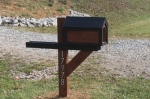 Mailbox built from pallets and scrap lumber