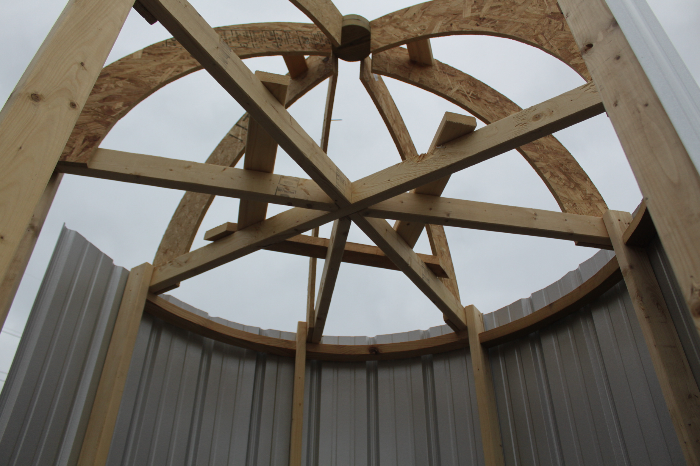 The Silos Dome Structure Was Not Not Easy To Figure Out U2013 But Its Finally  Ready For Itu0027s Metal Roof Too