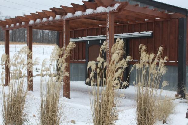 January 2013 - Winter snow blankets the farm