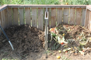 Our Compost Bins - made from pallets