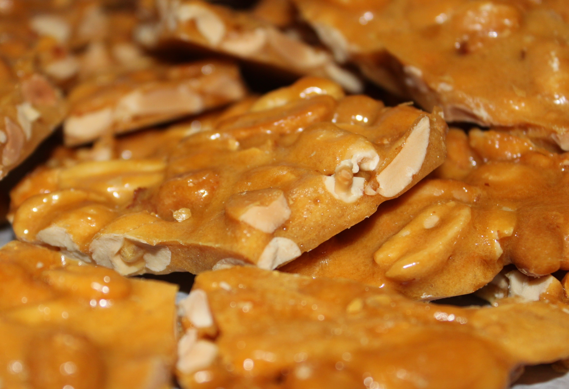 ... with milk chocolate peanut butter frosting and peanut butter brittle