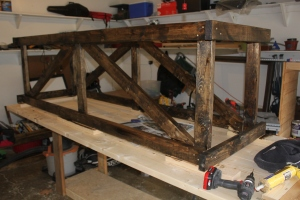Building A Farm Table Trestle Frame In The Garage