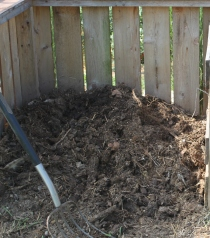 Finished compost ready to use!