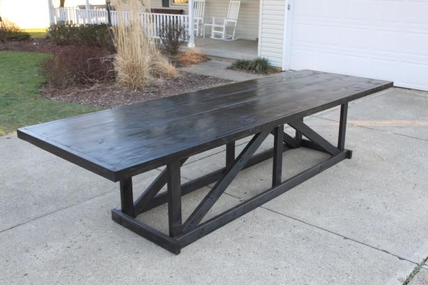 wooden pub table plans