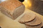 Home made wheat bread, sliced and ready to eat!