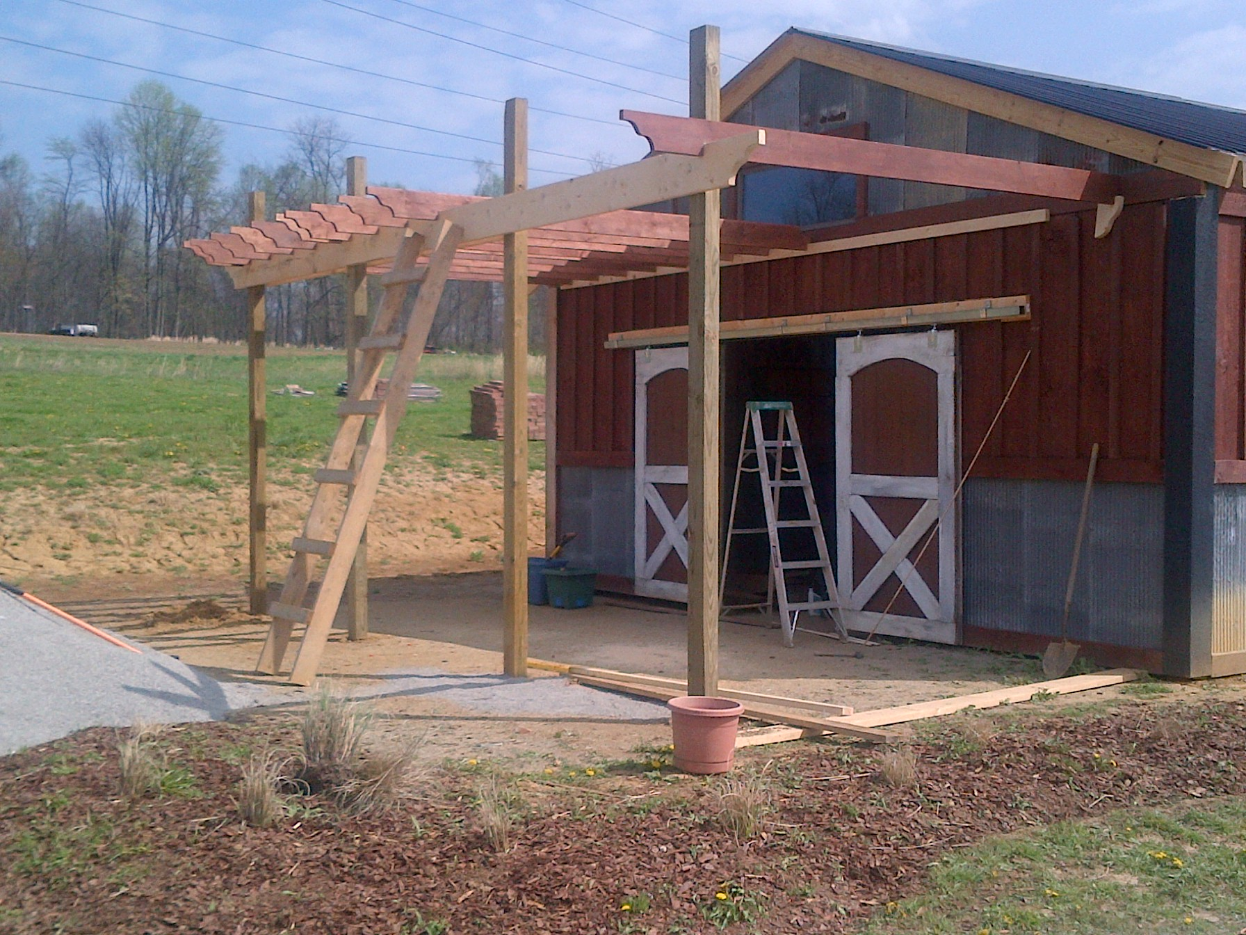 The Barn Pergola And The 1 Year Anniversary Of The Blog ...