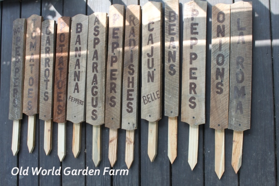 Barn Wood Garden Signs1