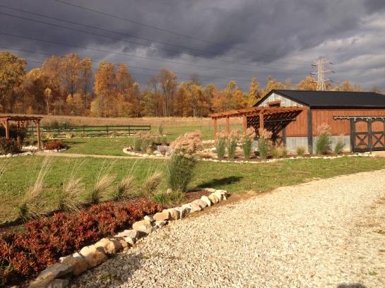 fall skies at the farm