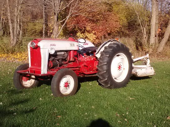 "I have always wanted an old tractor for the farm..and last year - we were lucky enough to get one. We named it ""Willie"" after my dad."