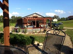 The pergola patio has become a great place to spend with friends and family