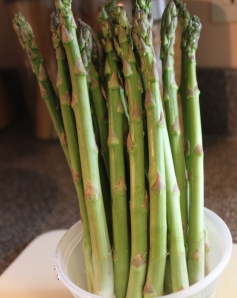 There is nothing like fresh picked asparagus from the garden!