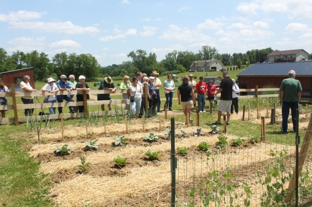 June 2013 - our first garden tour is given to the