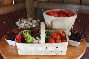 The garden provides plenty of fresh food - and fills our pantry with canned goods as well!