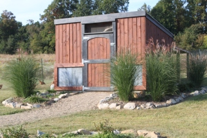 Our 2nd Chicken coop on the farm - built to match our barn