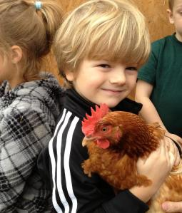 The Chickens, are always a big hit with the kids!