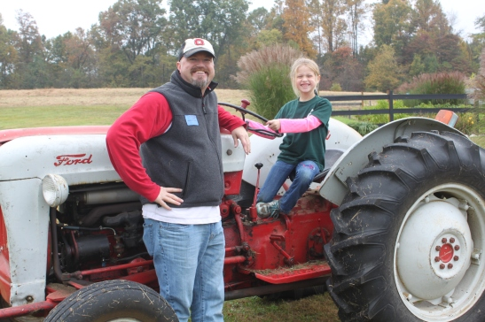 Everyone took their turn having their picture taken on the tractor