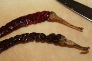 Dried cayenne peppers add a nice kick to chili powder