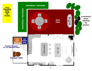 It took a few weeks - but we finally came up with the cabin plan details and layout