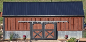 The coop was built to match the barn