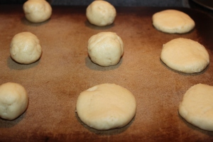 If you are in a hurry you can roll the dough into balls and flatten them down with the palm of your hand.