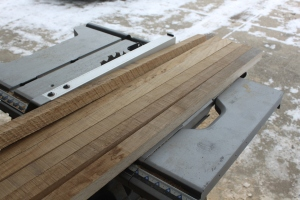 "For the ""legs"" of each ladder - we cut 1 3/4"" wide strips that were 36"" long"