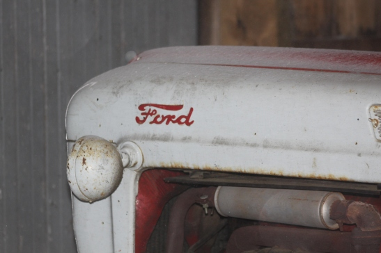 The ol' Ford tractor is enjoying an extended winter nap in the barn.
