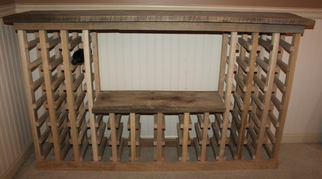 simple wood wine rack plans