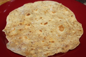 Tortilla ready to be filled!