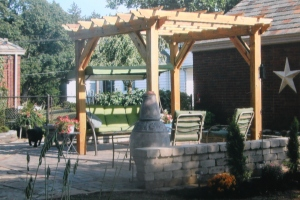 It is always neat to get pictures back to see the pergolas up and in place.