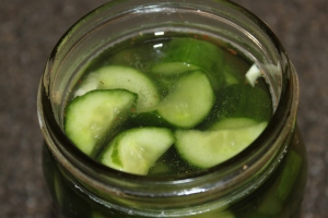Overnight Refrigerator Pickles - one of our favorites!