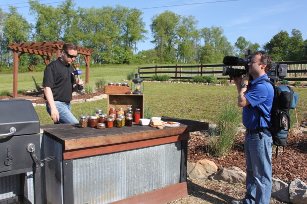 A little excitement at the farm - The local Fox/ABC station and morning show personality Dana Turtle visited this week and broadcast from the farm.