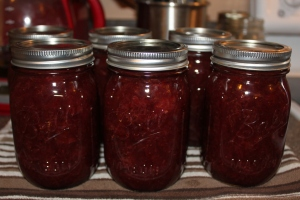 Strawberry Honey Jam - One of our favorites to make from our home grown strawberries!