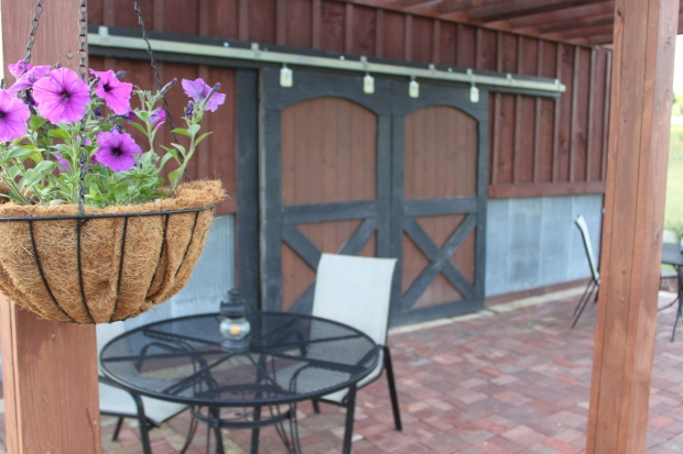 One of our favorite spots - the barn patio